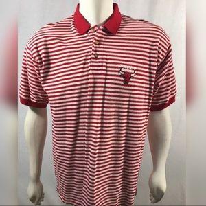 VINTAGE 90's Chicago Bulls Polo LogoAthletic Men's